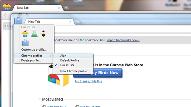 Chrome Canary and Dev receive updated multiple profile
