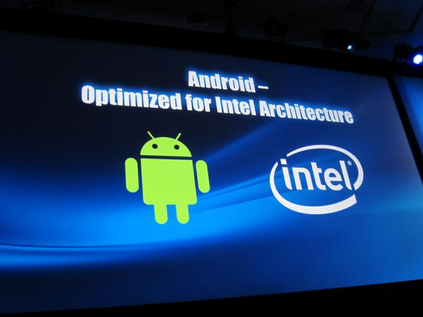 IDF 2011 (slide, All Future Versions of Android Will Be Optimized for Intel chips)