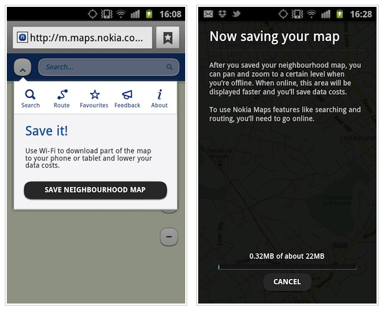 Nokia Maps updated with offline maps and public transport