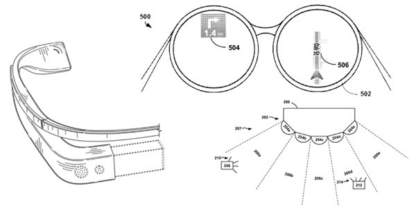 Google Glasses granted host of new patents, competition