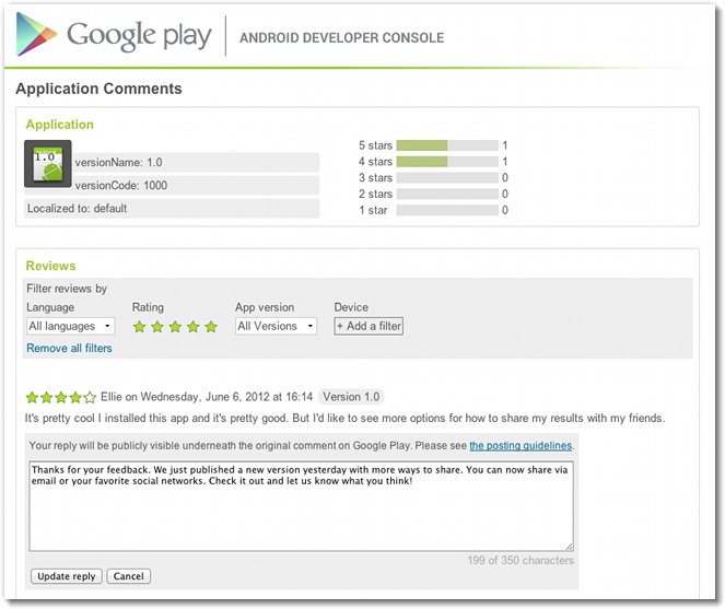 f09bb3e642 Google Play now lets developers reply to user reviews - 9to5Google
