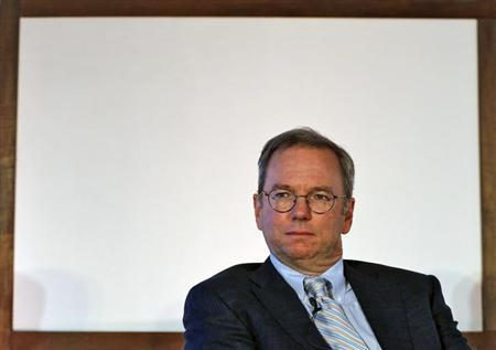 Google Executive Chairman Eric Schmidt attends a function on catalysing tech Start-ups in India by NASSCOM, in New Delhi March 20, 2013. REUTERS/Adnan Abidi