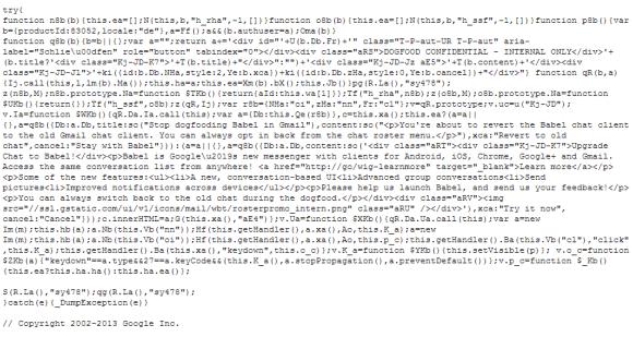 google-babel-code