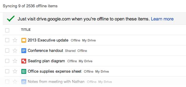 Google-Drive-offline screenshot