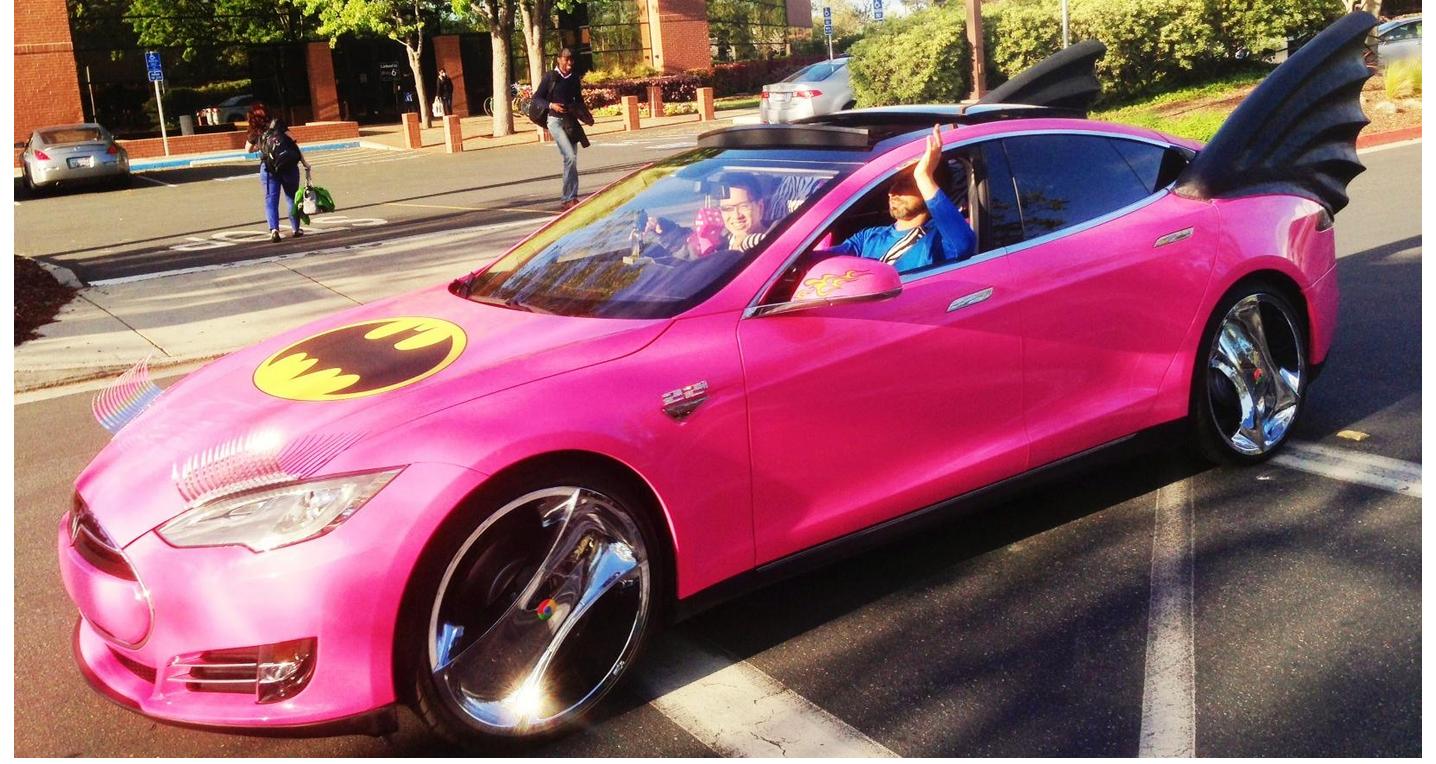 Sergey-Brin-Pink-Model-S-Tesla