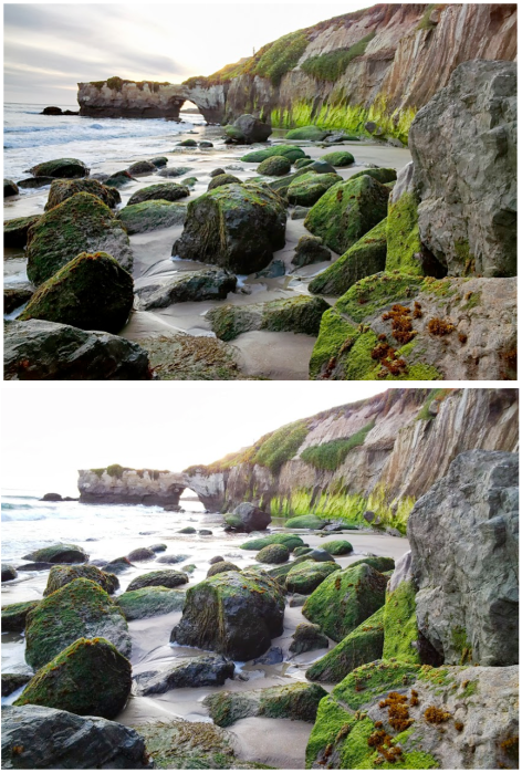 Top image with update, bottom image pre-update (via Google)