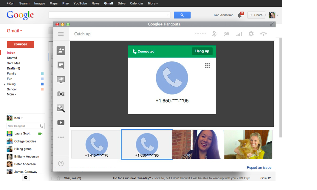 Hangouts-gmail-video call 2