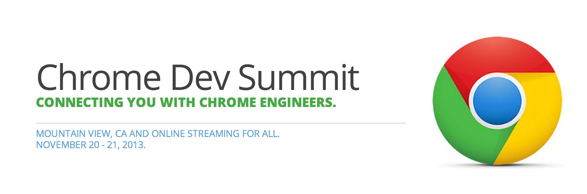 Chrome-Dev-Summit