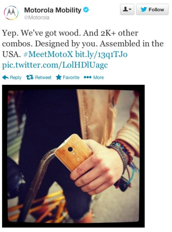 Motorola's tweet, since deleted
