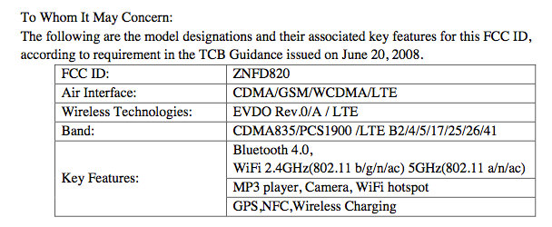 7-band LTE, making it compatible with AT&T, T-Mobile and Sprint