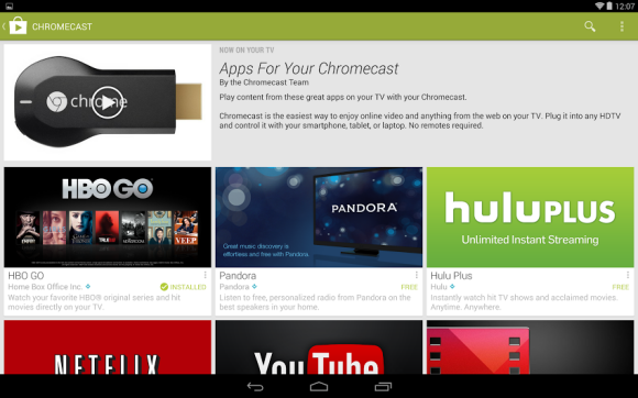 Google adds Chromecast-specific app section to Play Store ...