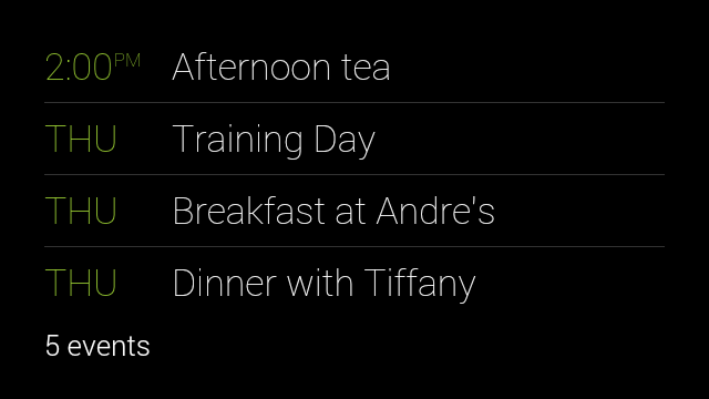 Glass Xe11 Update Adds Commands To Search Google Calendar Get