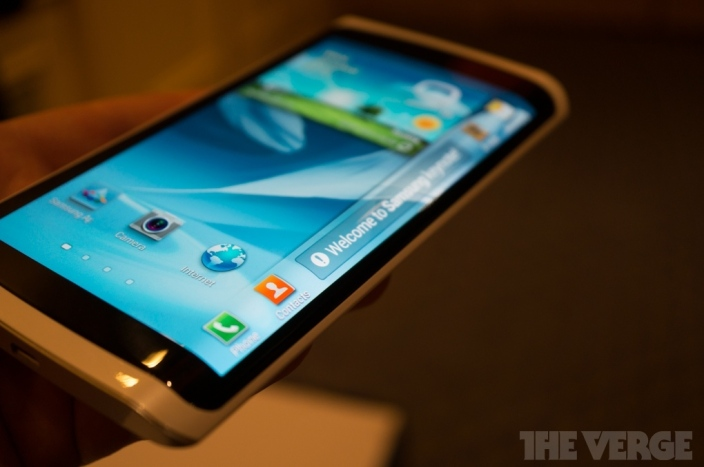 Samsung-CES-2013-Curved-OLED-Phone-Front