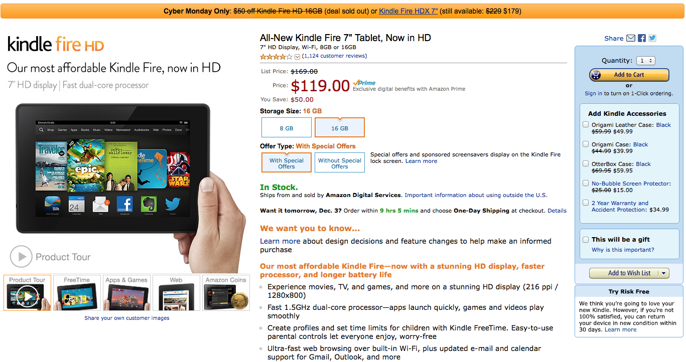 Amazon Announces Two Unprecedented Limited Time Deals On Two Popular Kindle Fire Tablets For Cyber Monday 9to5google