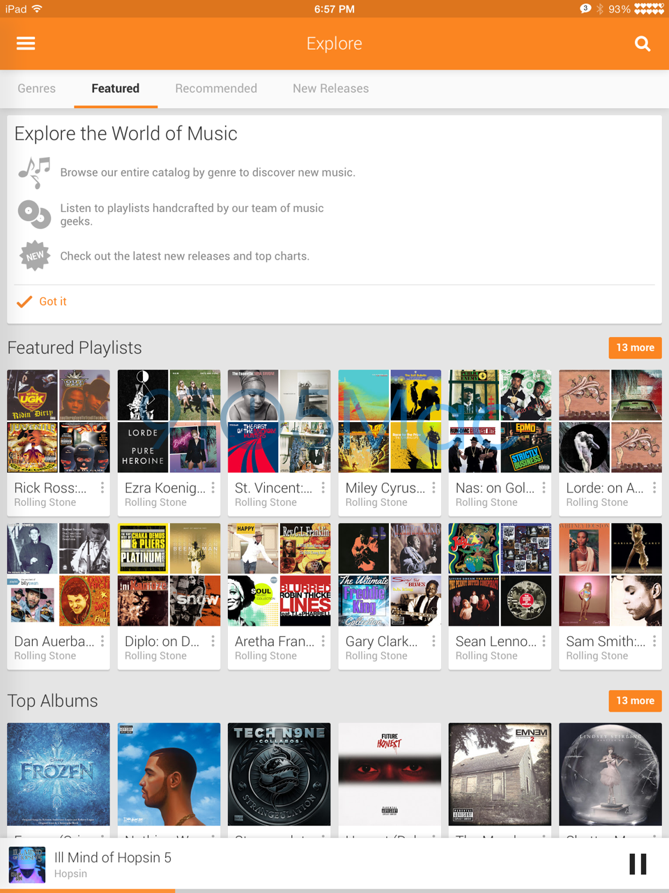 Google Play Music iPad app hidden inside iPhone version