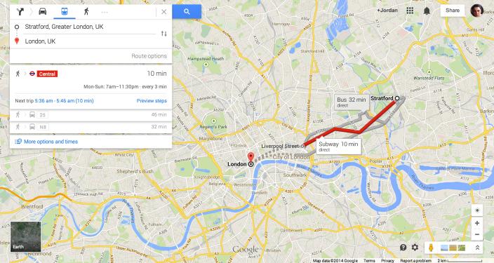 Google-Maps-Public-Transport-Data