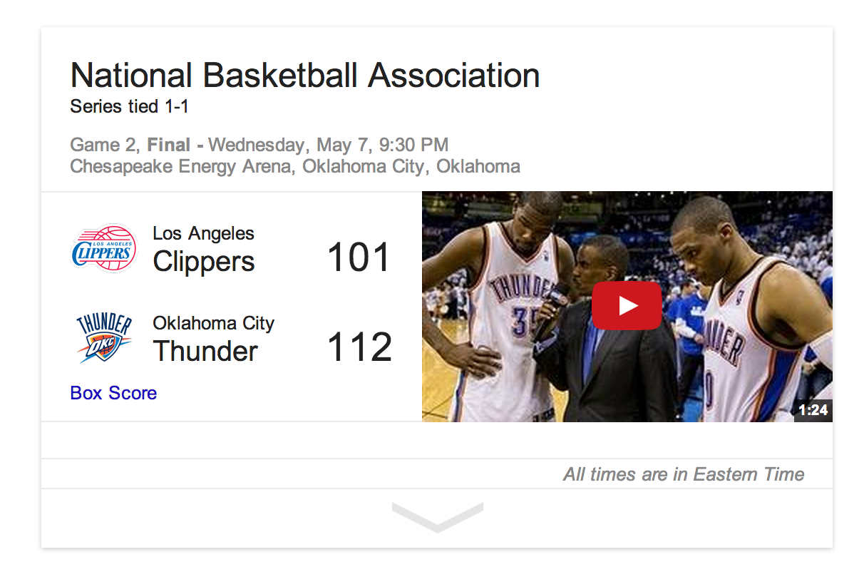 Google-Search-NBA-video-recaps