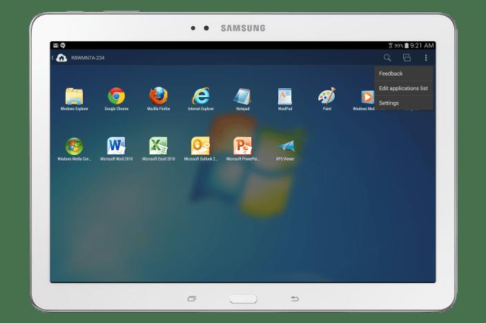 Parallels Access 2_Galaxy_W_Edit App List