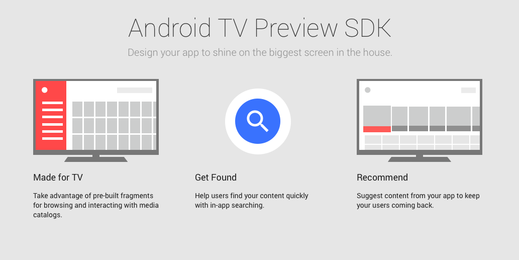 Android TV Remote Control and preview version of Google Cast