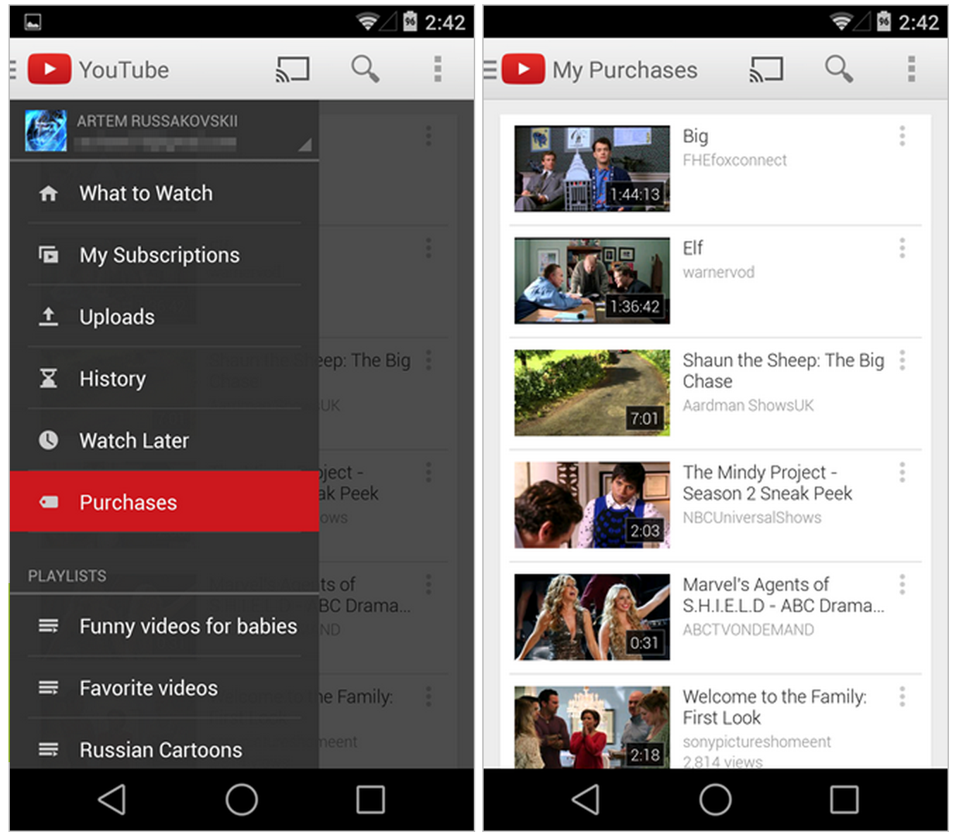 YouTube-Android-app-Purchases