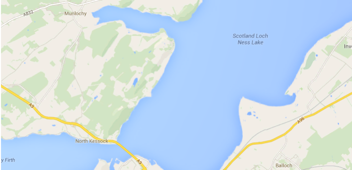 Google Maps Scotland Loch Ness Monster
