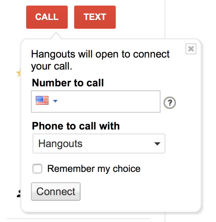 google voice hangouts screenshot