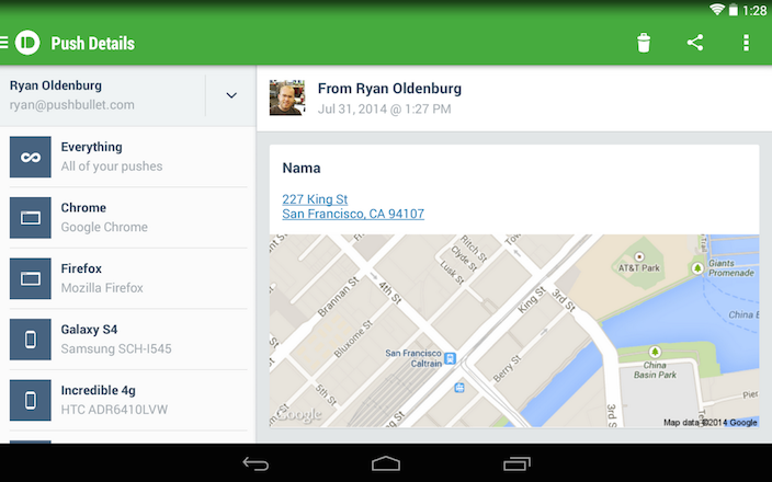 pushbullet android