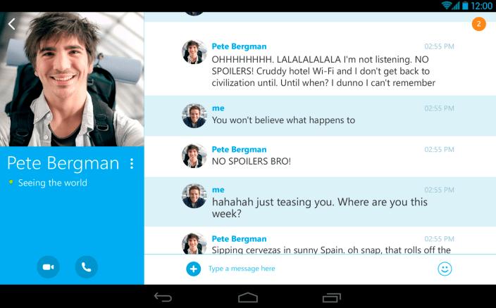 Skype-tablet-app
