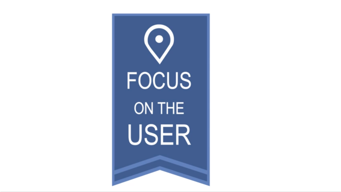 focus on the user