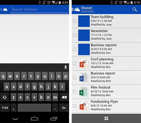 OneDrive-Android-search