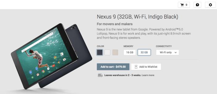 Nexus 9-Google Play