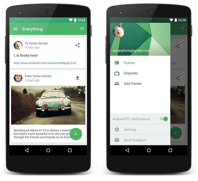 Our most Material update yet  Pushbullet Blog 2014-10-28 09-58-22