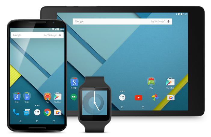 Android Lollipop Nexus