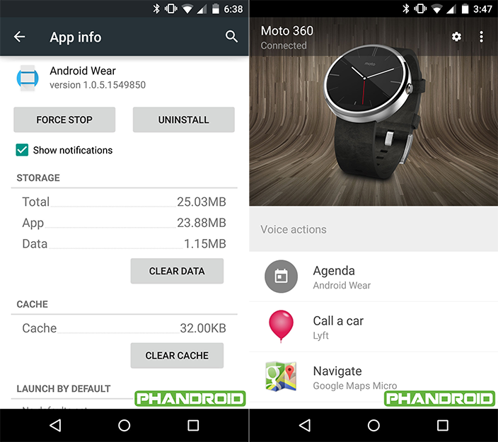 Android Wear App Update