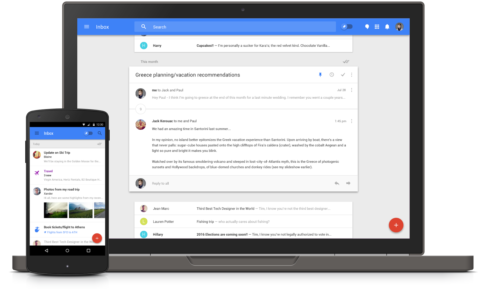 Inbox by Gmail apps