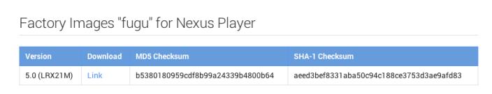 Nexus-Player-Factory-Image