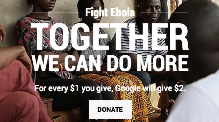 Google Ebola Donation