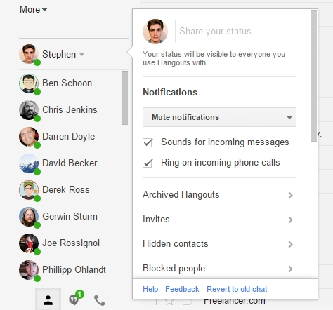 Hangouts in Gmail gets updated, lets you set a status message