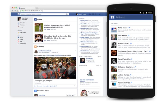 Facebook Trending Android iOS