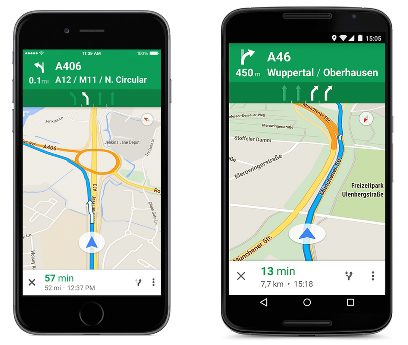 Google Maps adds lane guidance for highways in Germany ... on google earth update 2014, google maps updated 2012, google maps street view, google search, google sky,