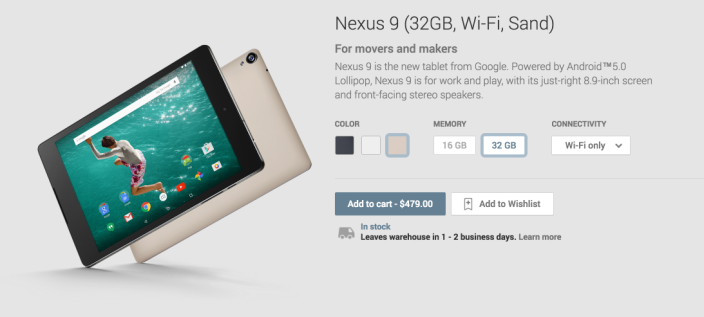 Nexus 9 (32GB, Wi-Fi, Sand) - Devices on Google Play 2015-01-13 09-07-25