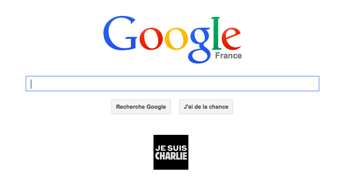 Je Suis Charlie Google