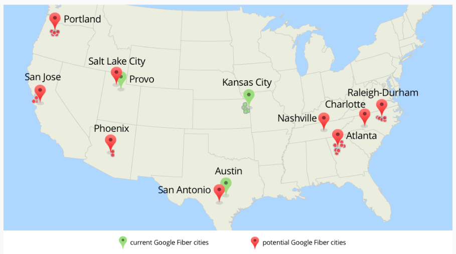 Google Fibers Next Stop Likely Expansion Cities In North Carolina