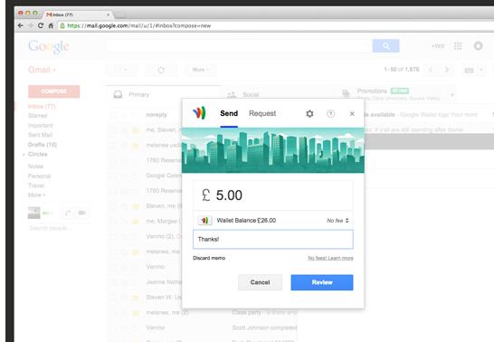 UK Send Money Gmail Google Wallet
