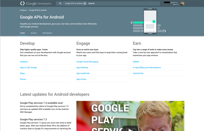 Google APIs for Android  |  Google Developers 2015-05-28 13-28-57