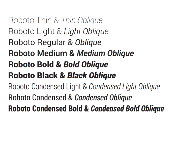 Google makes its Roboto font from Android/Chrome OS open source