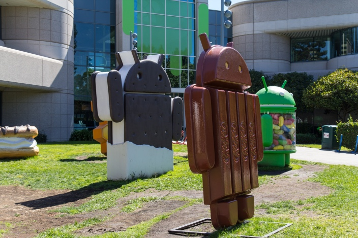 Android lawn statues