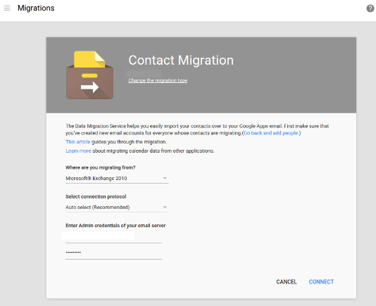 Contact Migration