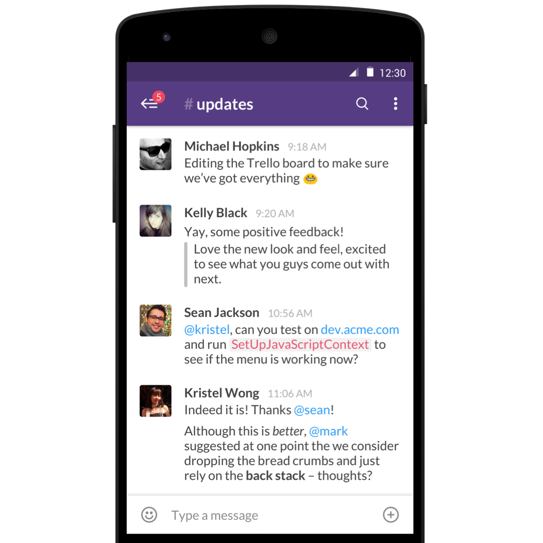 Slack for Android updated with much faster navigation, emoji