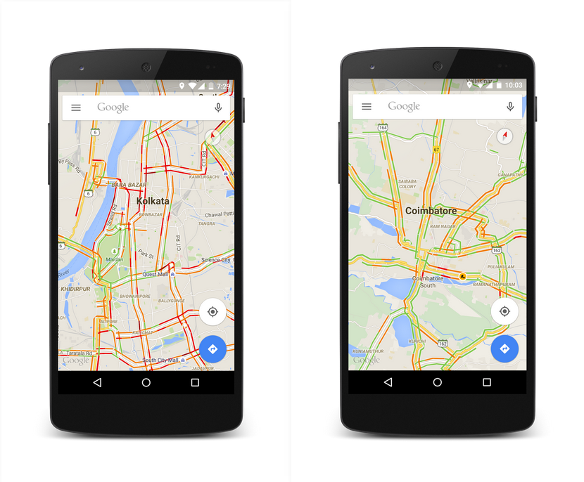 Google Maps In India Now Includes Real Time Traffic Information